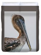 Scared Pelican Duvet Cover