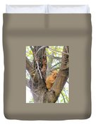 Scared Up A Tree Duvet Cover