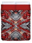 Scarlet Entanglement Duvet Cover