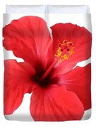 Scarlet Hibiscus Tropical Flower  Duvet Cover