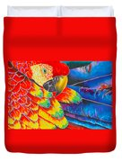 Scarlet Macaw Duvet Cover