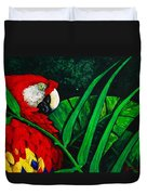 Scarlet Macaw Head Study Duvet Cover