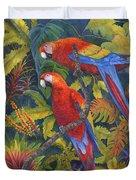 Scarlet Macaws Duvet Cover