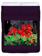 Scarlet Night Duvet Cover