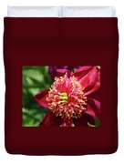 Scarlet Peony Duvet Cover
