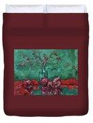 Scarlet Pomegranates Duvet Cover