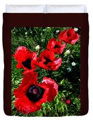 Scarlet Poppies Duvet Cover