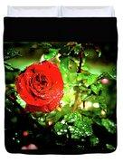 Scarlet Raindrops Duvet Cover