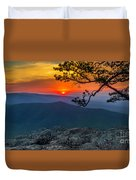 Scarlet Sky At Ravens Roost Panorama I Duvet Cover