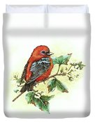 Scarlet Tanager - Summer Season Duvet Cover