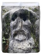 Scary Stone Head Duvet Cover