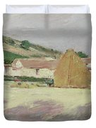 Scene At Giverny, 1890 Duvet Cover