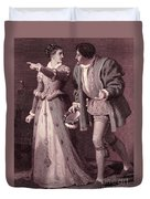 Scene From Much Ado About Nothing By William Shakespeare Duvet Cover