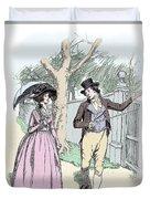 Scene From Sense And Sensibility By Jane Austen Duvet Cover