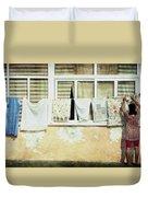 Scene Of Daily Life Duvet Cover
