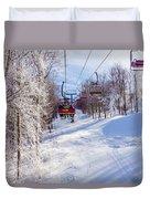 Scenery Around Timberline Ski Resort West Virginia Duvet Cover