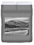 Scenic Alaska Bw Duvet Cover