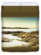 Scenic Coastal Dusk Duvet Cover