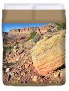 Scenic Drive Boulder View Duvet Cover