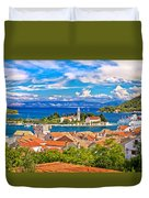 Scenic Island Of Vis Waterfront Duvet Cover