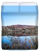 Scenic Lake On The Kancamangus Duvet Cover