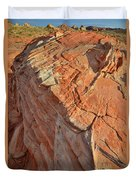 Scenic Sandstone In Valley Of Fire Duvet Cover