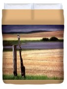 Scenic Saskatchewan Landscape Duvet Cover