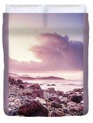 Scenic Seaside Sunrise Duvet Cover