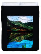 Scenic Stained Glass  Duvet Cover