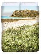 Scenic Stony Seashore Duvet Cover