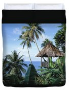 Scenic Thatched Hut Duvet Cover
