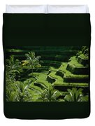 Scenic Valleys With Rice Fields In Bali Duvet Cover