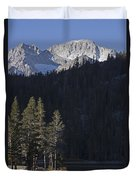 Scenic View Of Mount Abbot 13701 Ft Duvet Cover