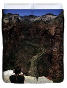 Scenic View Of Zion National Park Duvet Cover