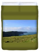 Scenic Views Of The Cliff's Of Moher In Ireland Duvet Cover
