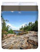 Scenic Wreck Island Duvet Cover