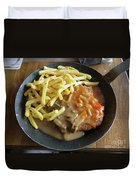 Schnitzel With Two Sauces Duvet Cover