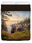Schoodic Point Sunset Duvet Cover
