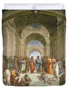 School Of Athens From The Stanza Della Segnatura Duvet Cover by Raphael