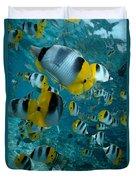 School Of Butterflyfish Duvet Cover