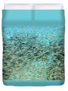 School Of Fish At Kwajalein Atoll Duvet Cover