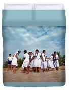 School Trip To Beach II Duvet Cover by Rafa Rivas