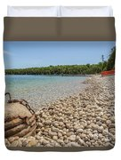 Schoolhouse Beach Washington Island Duvet Cover