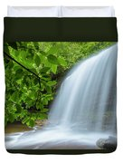 Schoolhouse Falls In Panthertown Valley North Carolina Duvet Cover