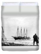 Schooner Shipwreck Duvet Cover
