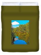 Schroon River Reflection In The Adirondacks-new York Duvet Cover