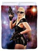 Scifi Heroine Duvet Cover