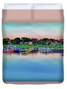 Scituate Harbor At Sunset Duvet Cover