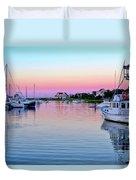 Scituate Harbor Sunset Duvet Cover