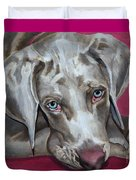 Scooby Weimaraner Pet Portrait Duvet Cover